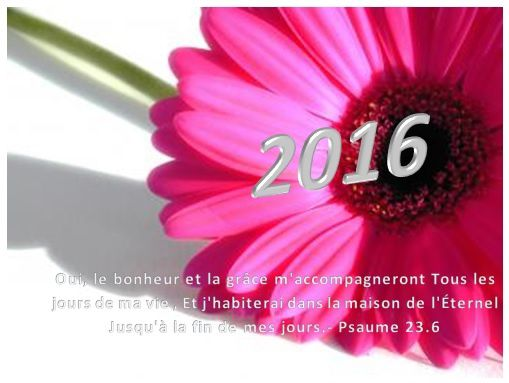 2016 : une année de Grâce et de victoires...