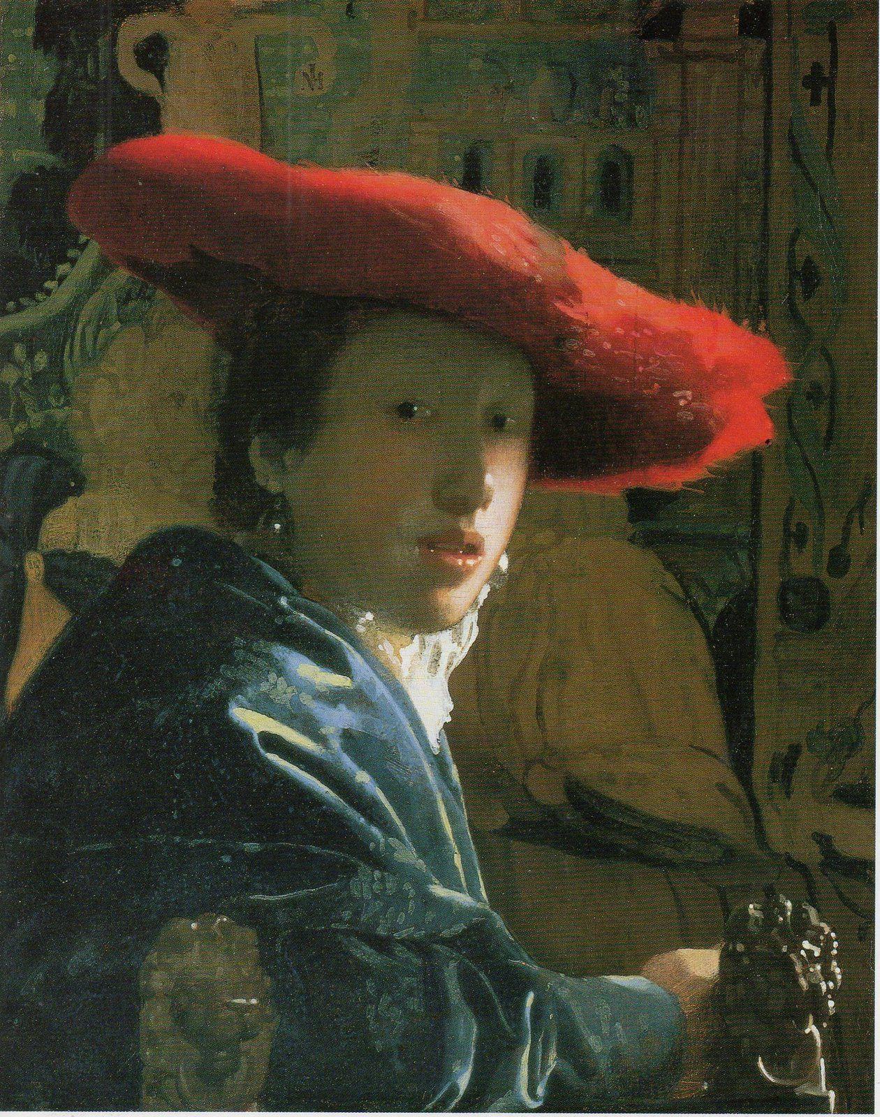 """( I ) Bienheureuse femme de ménage.  ( II ) Jeune fille au chapeau rouge, de Jan Vermer. XVII ème siècle. Art classique. ( III ) Intitulé Fontaine, cet urinoir renversé est considéré comme un symbole de 'art contemporain!  ( IV ) Merda d'artista, de Piero Manzoni. Autre """"chef d'oeuvre d'AC . ( V ) Auto portrait à l'oeil blessé, de Francis Bacon. Peint en 1972, ce tableau montre qu'on peut aujourd'hui peindre sans étre de l'école d'AC. Les couleurs les lignes décrivant la souffrance morale et les infirmités, suggère en même temps la capacité à vaincre par une démarche toute intérieure de concentration ."""