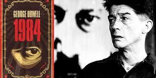 ( 1 ) Affiche du film, excellent, 1984, inspiré d'Orwell. ( 2 ) LGBT ! ( 3 ) Huxley : Le meilleur des mondes.