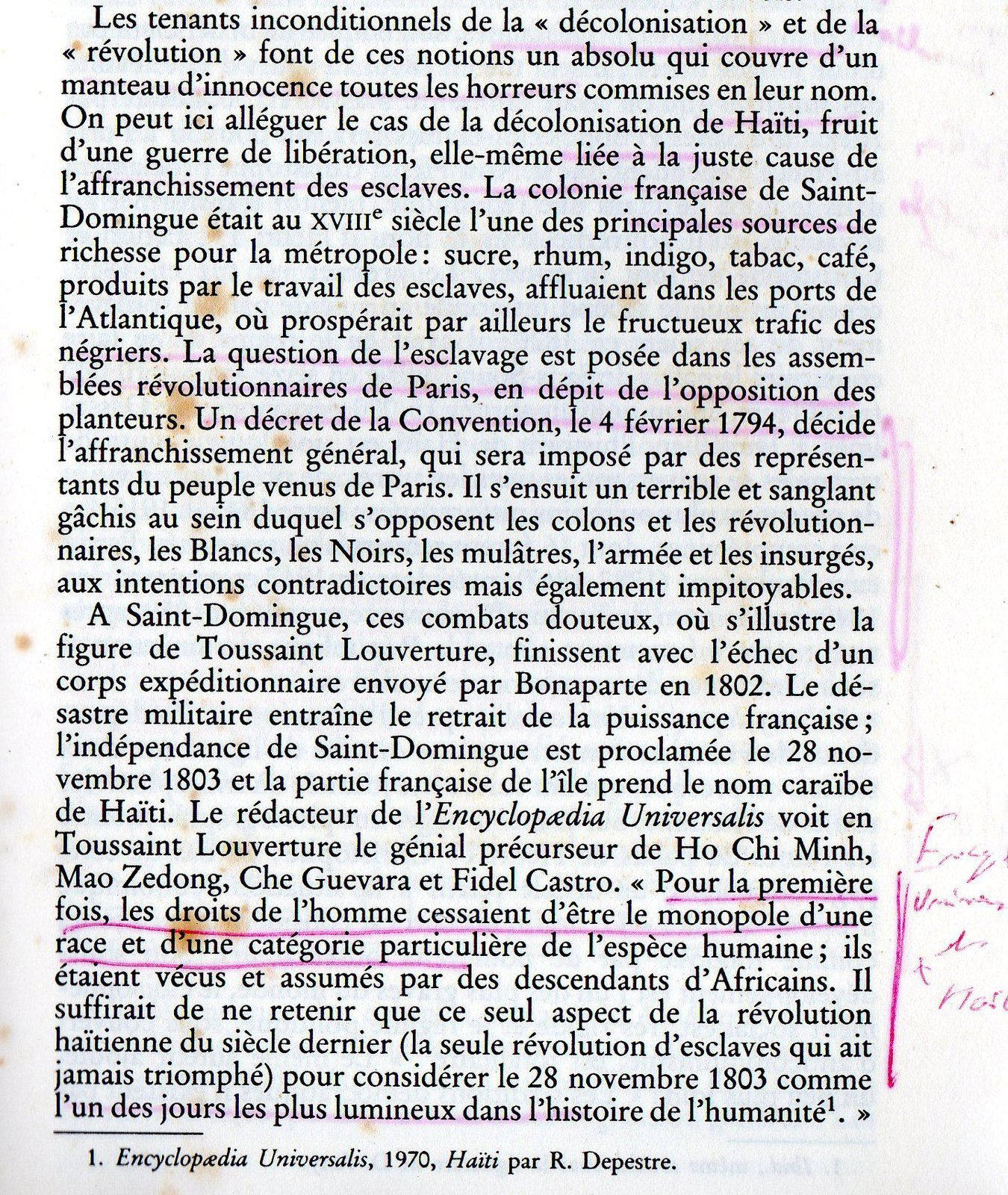( 1 ) Henri 1er, le roi Christophe. ( 2 ) Etat actuel du Palais du roi Christophe. ( 3 ) Livre de Catherine Eve Roupert. ( 4 )