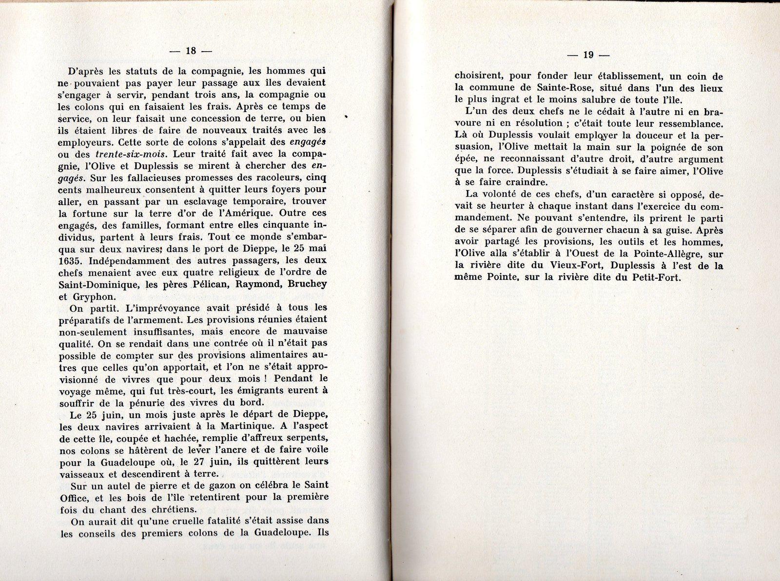 Histoire : Les engagés ( ou 36 mois ) de la Guadeloupe ( documents ).