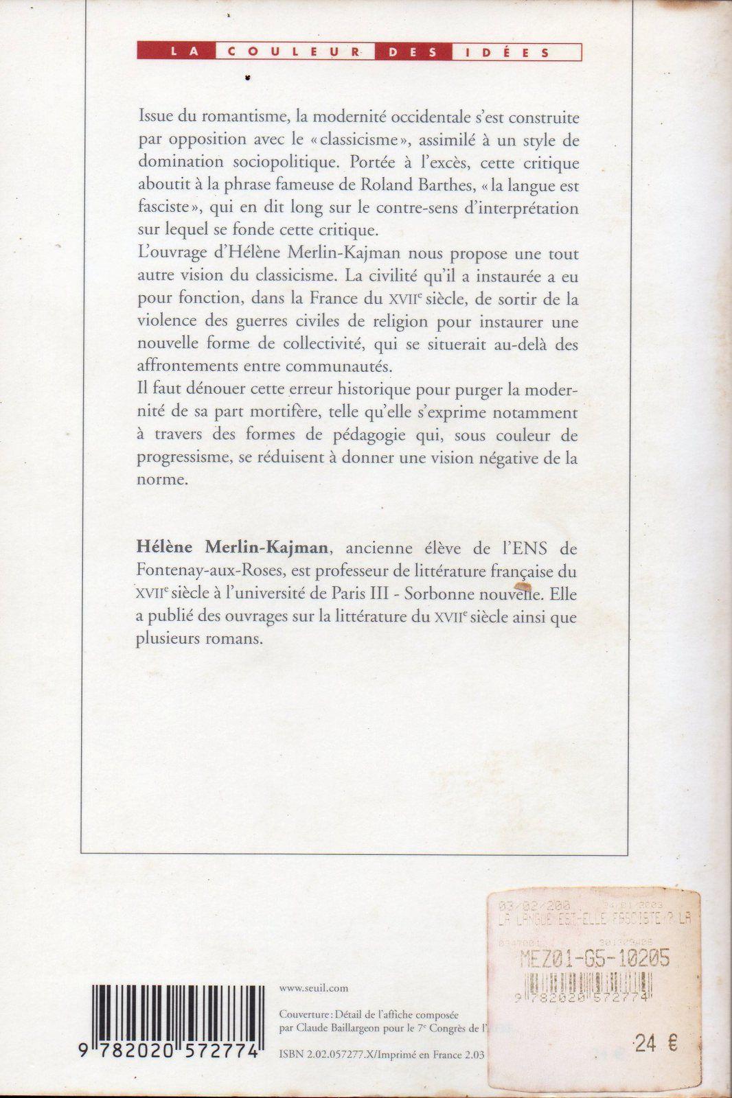 Langue française : Mme Sandrine Célérier est-elle fasciste?