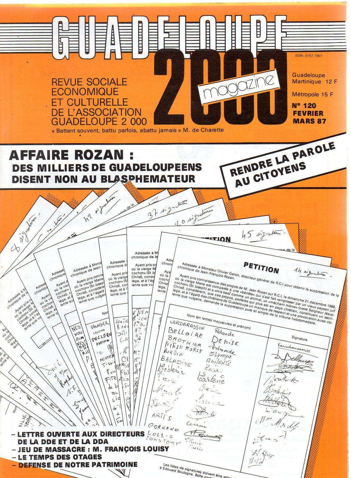 Figure : Le décès de Jean-François Rozan.