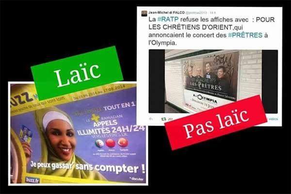 «La RATP prend parti pour l'État Islamique contre les Chrétiens».