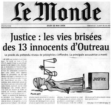 """1 ) Une célèbre et récente erreur judiciaire. 2 Présomption """"djeun"""" d'innocence."""