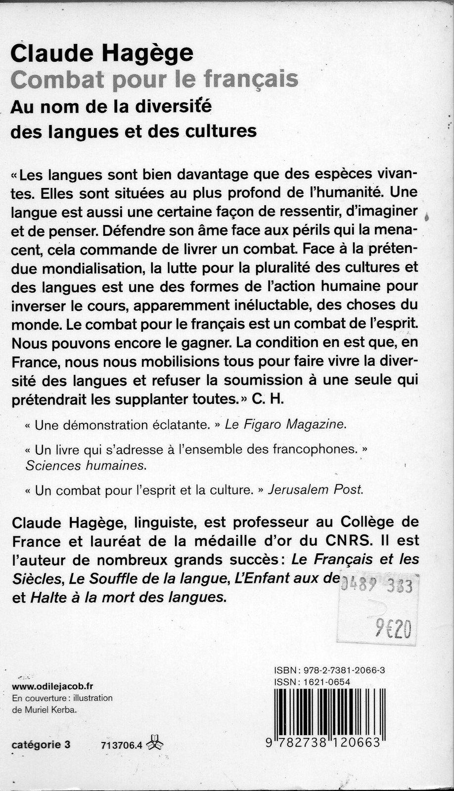 Contre les saboteurs : Défense rigoureuse de la langue française.