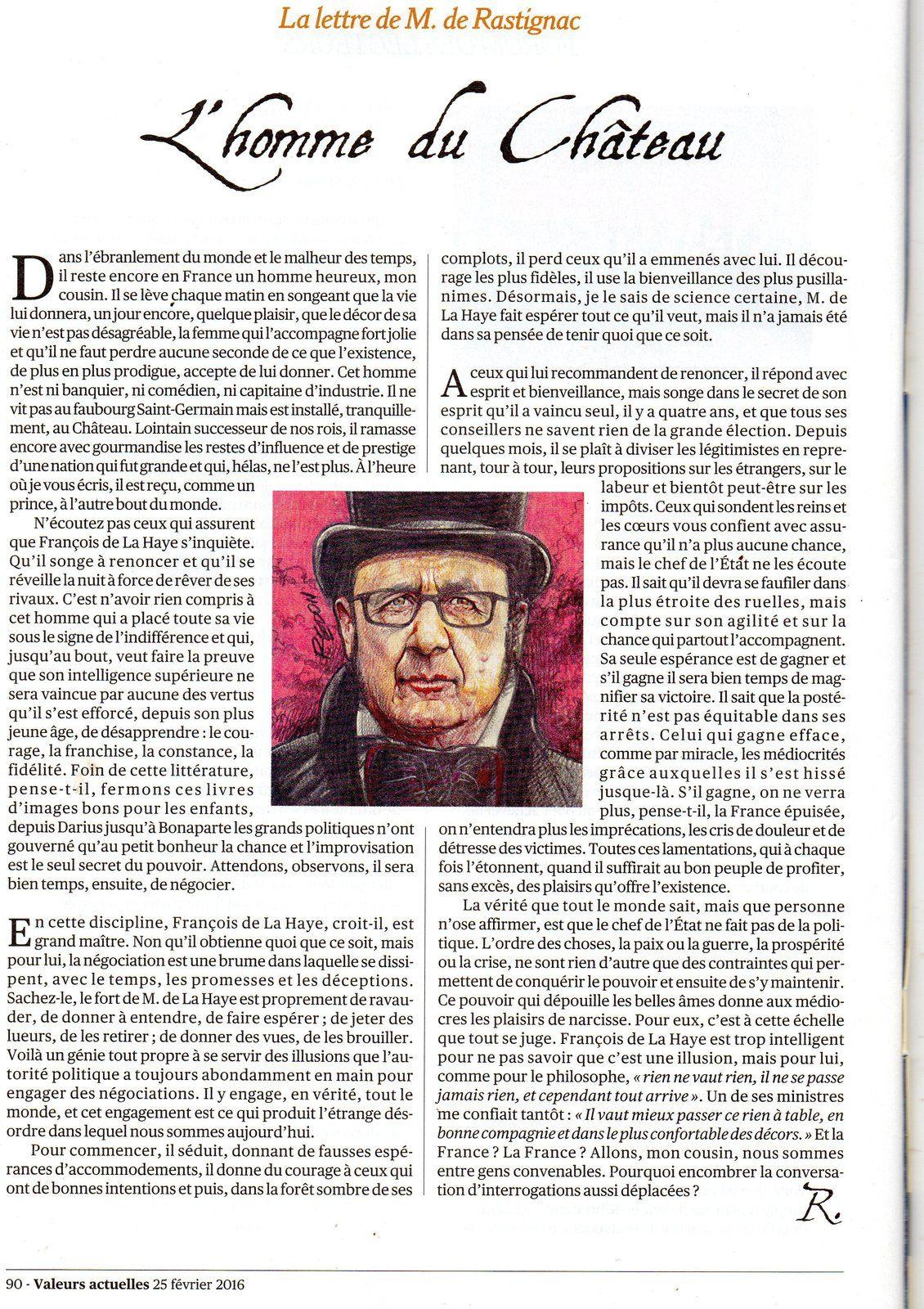 Analyse spectrale de François Hollande, par Rastignac