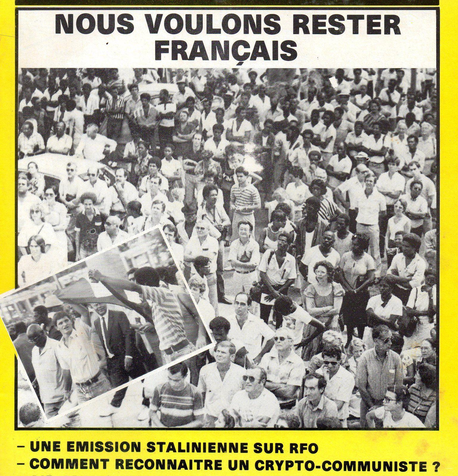 Photo des amis du Scrutateur dans un meeting de 1984. Photo Guadeloupe 2000. 2 ) Photo d'artiste.