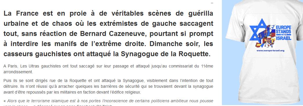 5 ) Le symbolisme de Nuit Debout. 6 ) La brute trotskyste rode dans Paris.