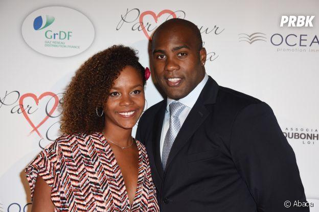 Teddy Riner et son épouse.