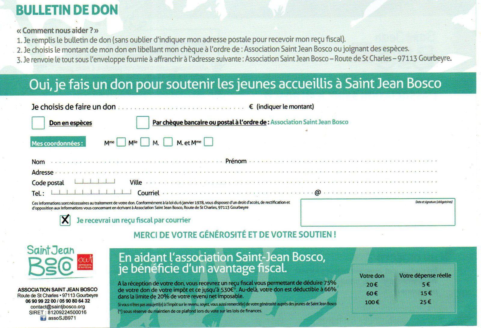 Le retour en Guadeloupe de l'Association Saint Jean BOSCO. La nécessité de la soutenir.
