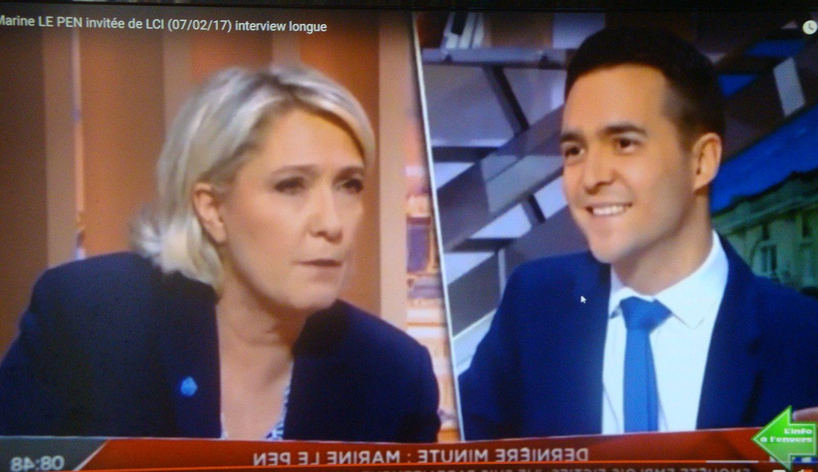 Marine Le Pen à l'Info à l'envers. Le recours ?