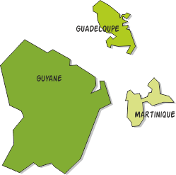 Présidentielles en Guadeloupe, Martinique et Guyane : Résultats comparés des premiers et deuxième tours.