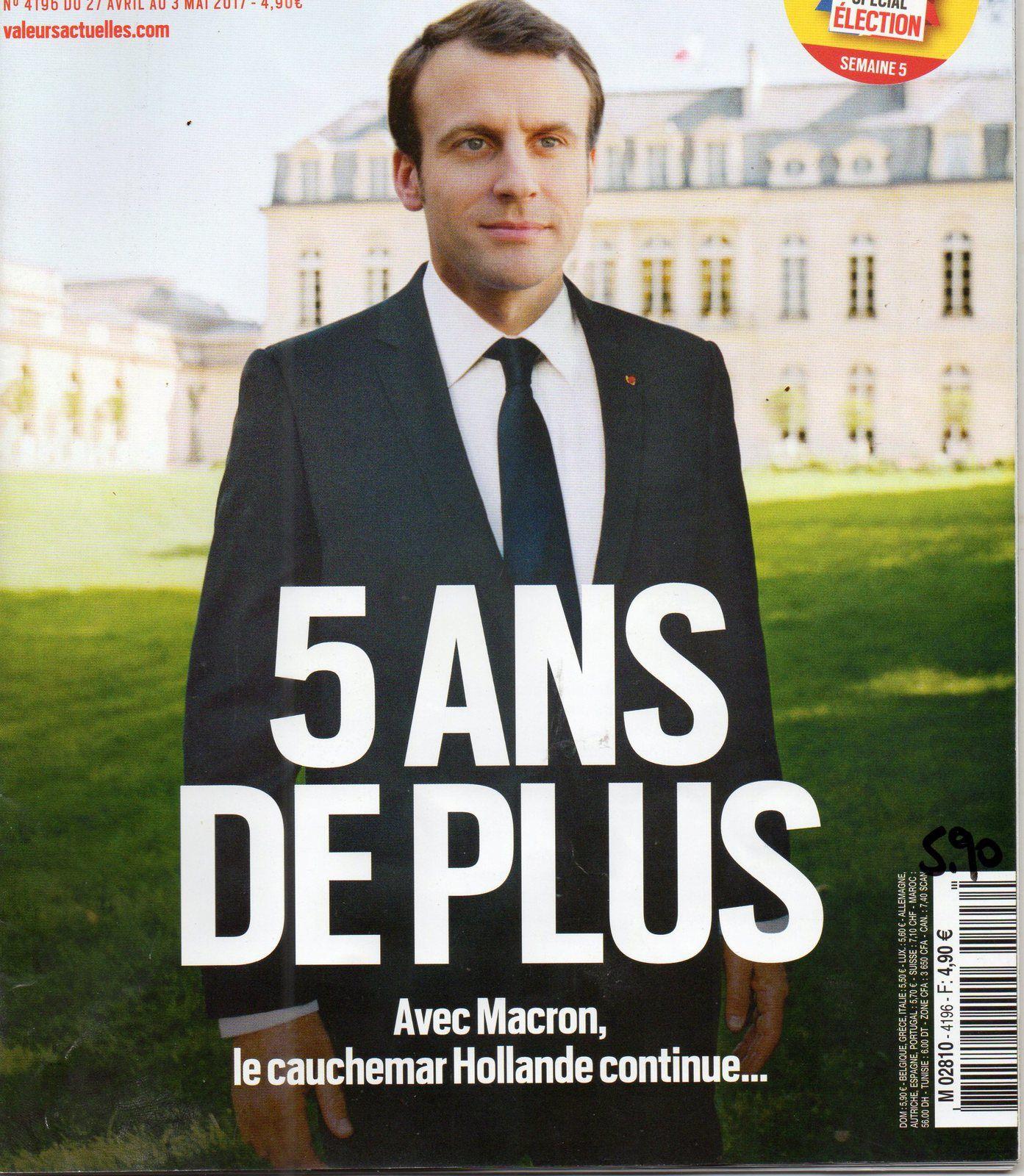 Macron élu. Cinq années ( ? ) à subir. Du moins en principe.