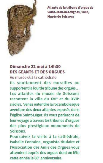 Visite-conférence &quot&#x3B;Des géants et des orgues&quot&#x3B;, à Soissons le 22 mai