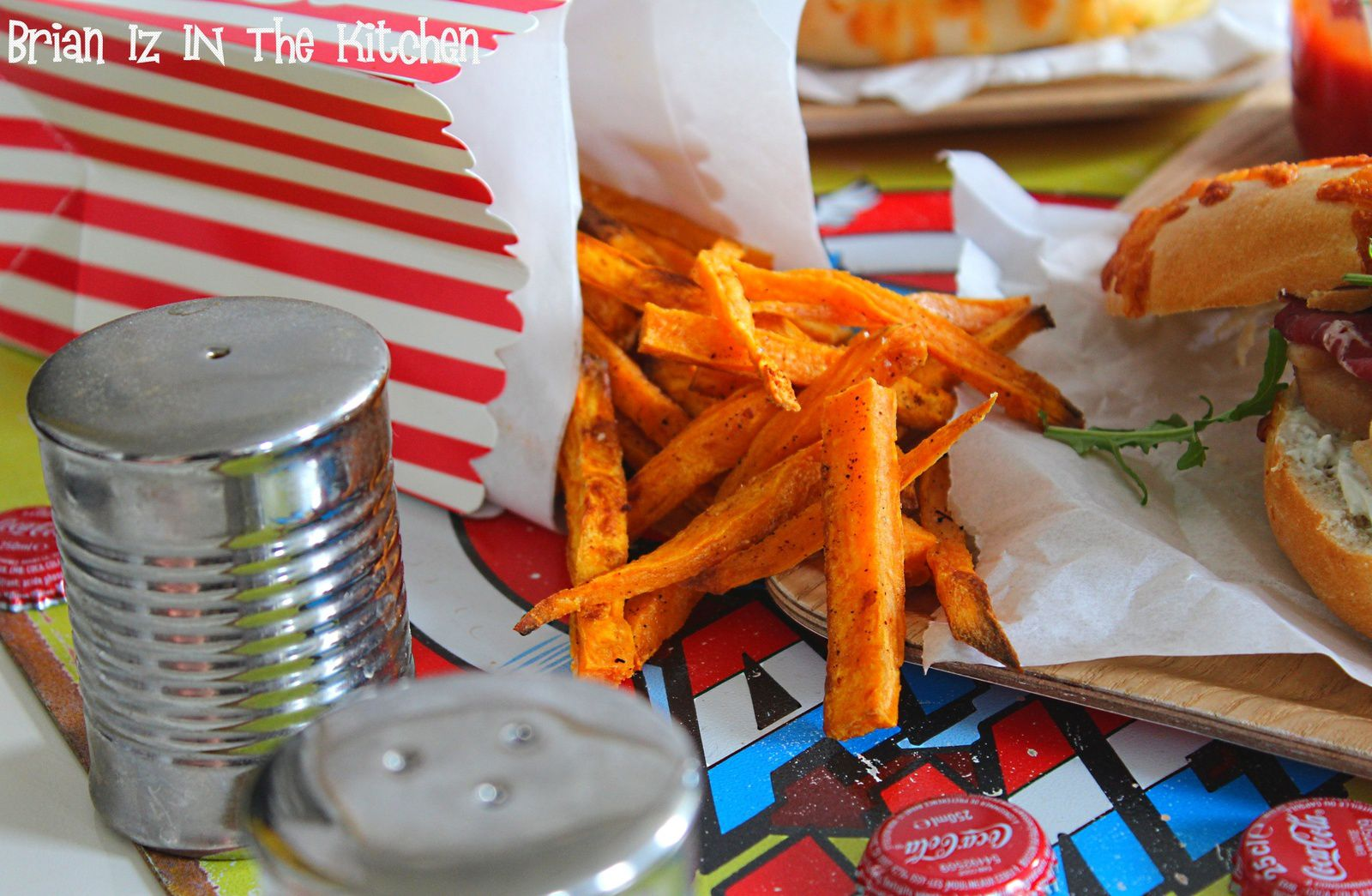 Frites de patates douces au paprika cuites au four brian iz in the kitchen - Frite friteuse au four ...
