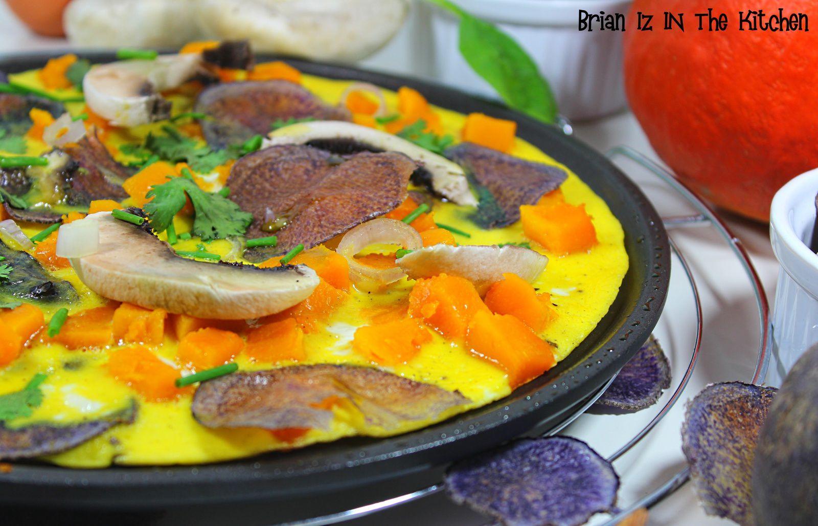Omelette aux Légumes de Saison & Chips de Purple Majesty (Fait Maison)