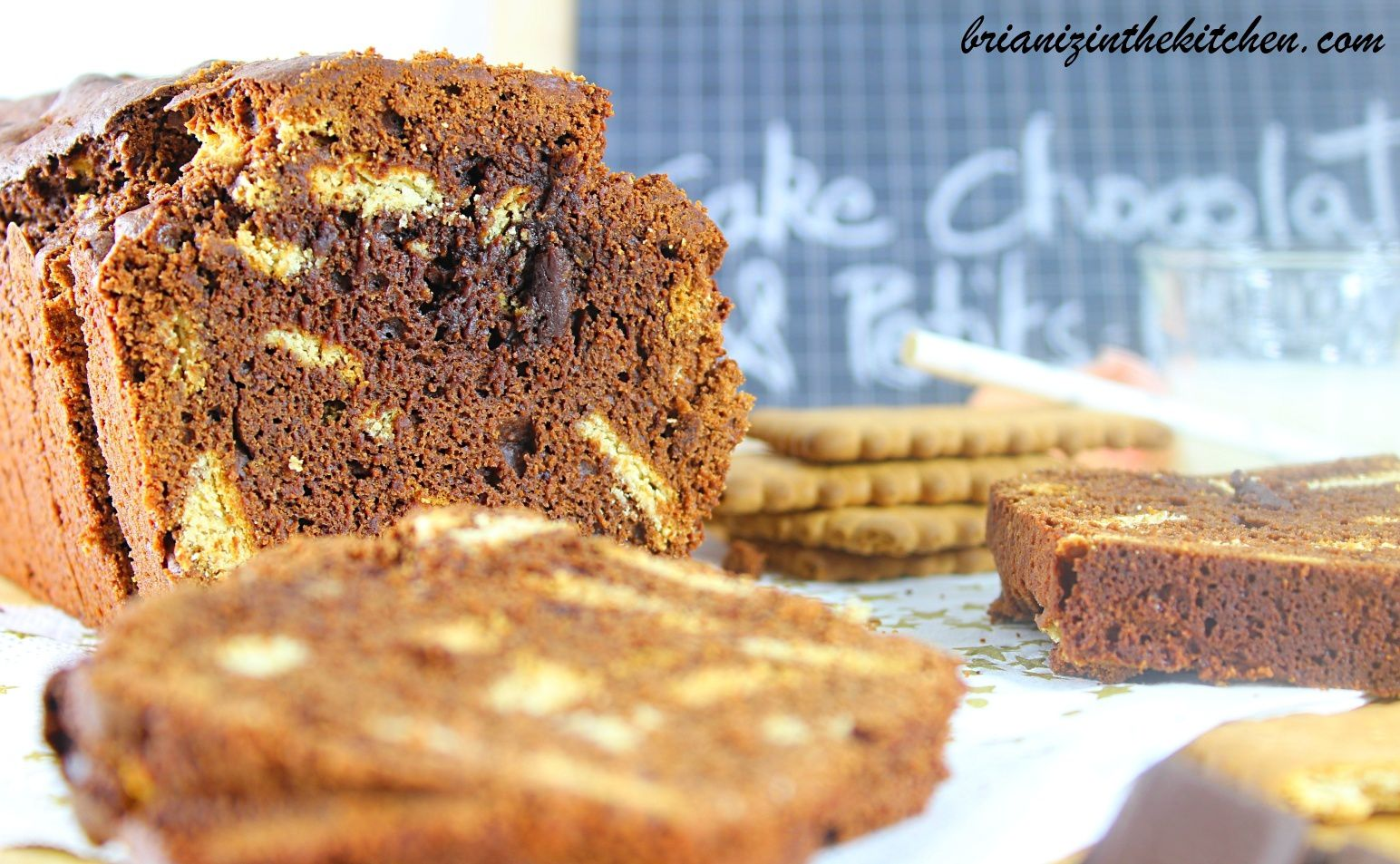 Cake au Chocolat Noir & Petits-Beurre