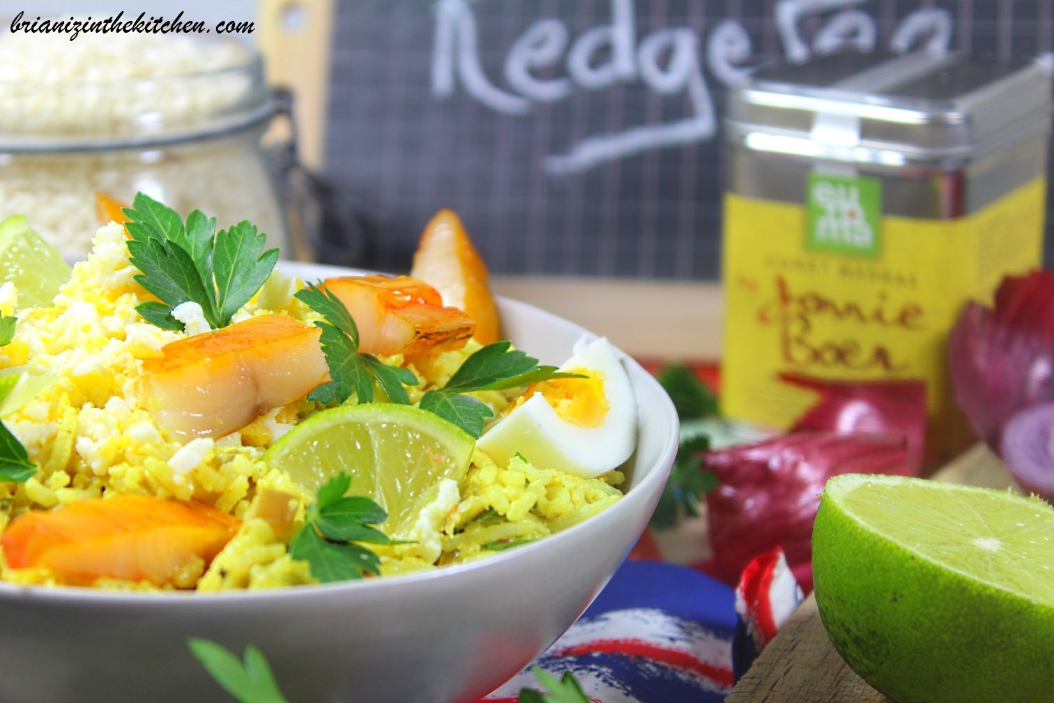 Kedgeree Indien (Riz, Haddock, Oeufs, Persil & Curry)