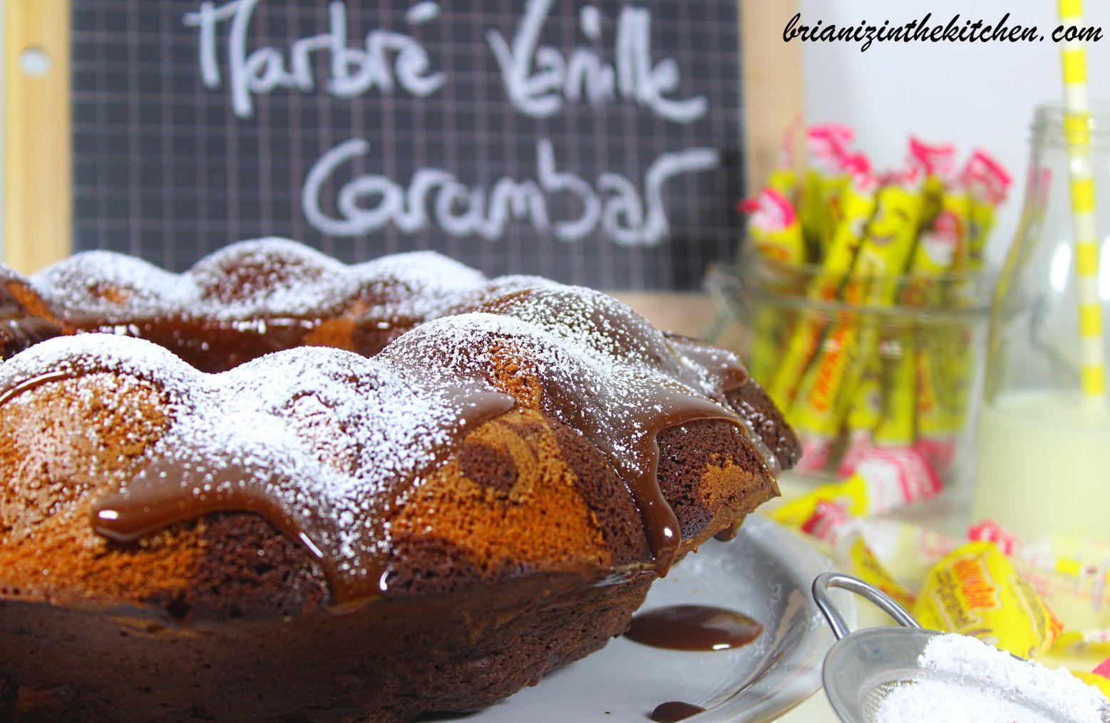 Gâteau Marbré Vanille et Chocolat Carambar