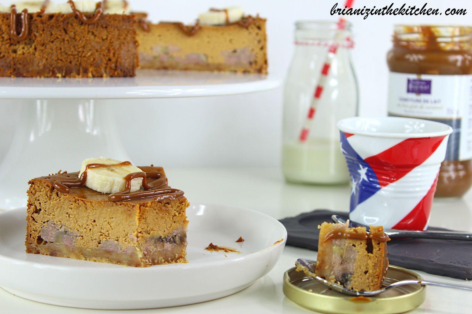 Cheesecake aux Bananes et à la Confiture de Lait