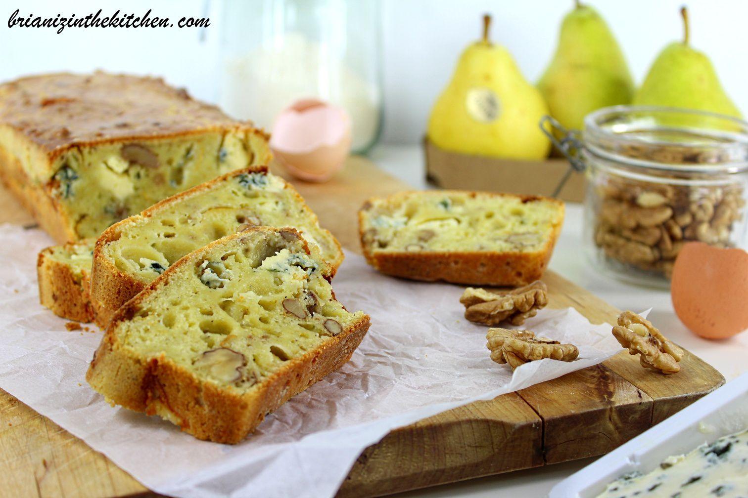 Cake Salé {Anti-Gaspi} Epluchures de Poire, Roquefort et Noix