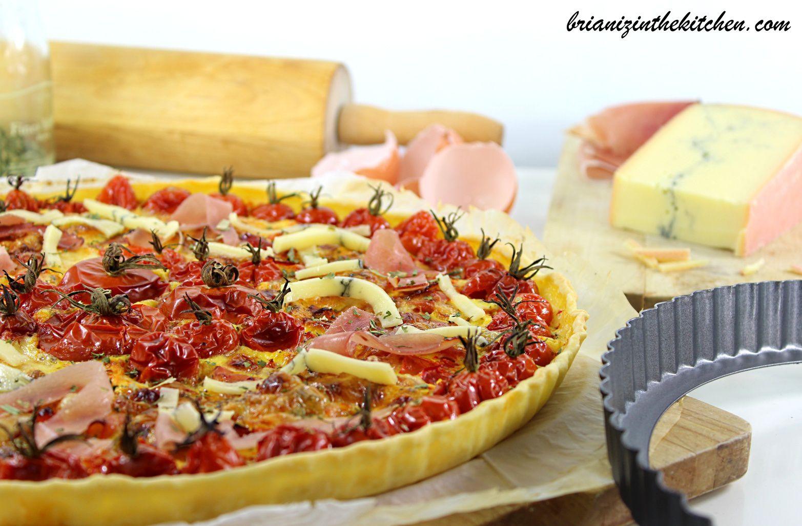 Tarte Estivalo-Automnale aux Tomates, Jambon Cru & Morbier