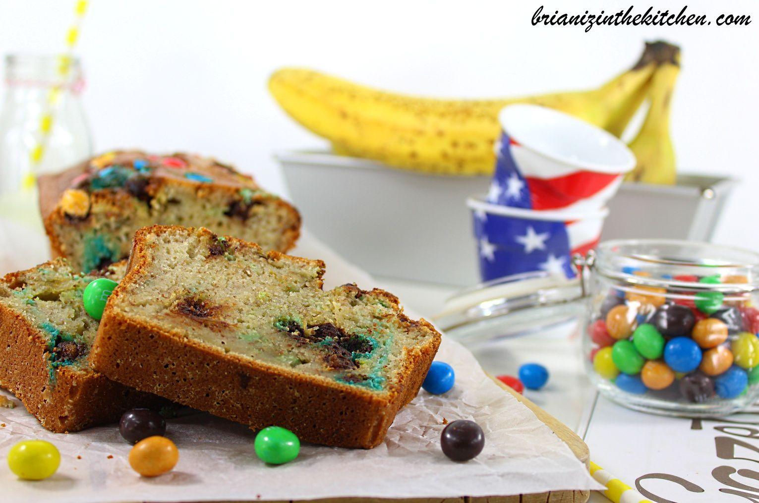 Banana Cake aux M&amp&#x3B;M's Crispy