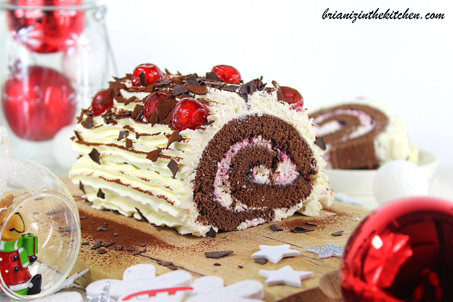 Buche De Noel Facon Foret Noire Brian Iz In The Kitchen