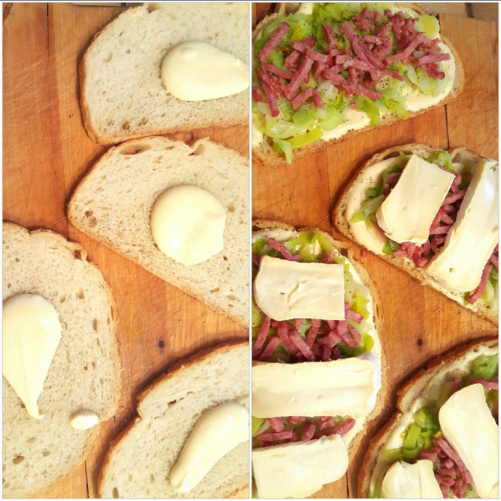 Tartine Poireaux, Bacon &amp&#x3B; Reblochon {Sauce Moutarde}