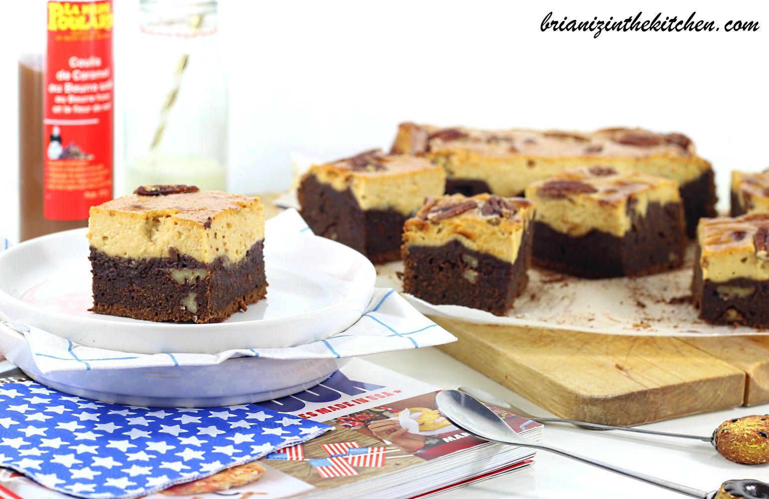 Brownie Marbré Chocolat, Caramel au Beurre Salé &amp&#x3B; Noix de Pécan - La Mère Poulard