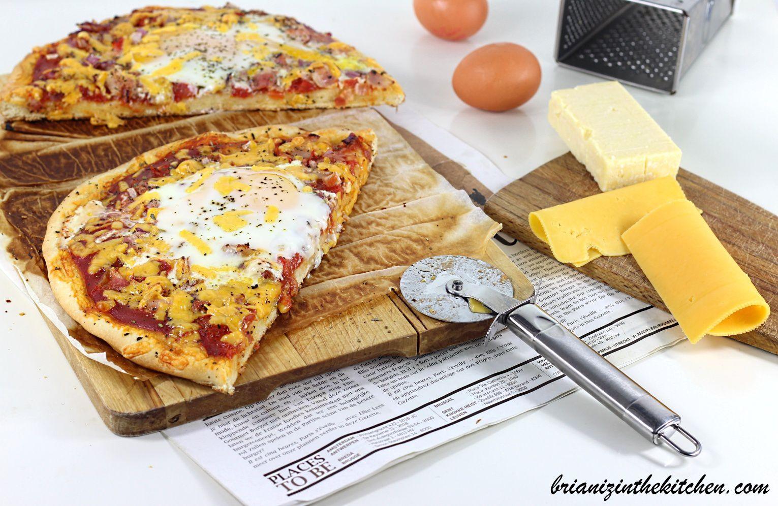 Pizza Bacon, Cheddar &amp&#x3B; Oeufs