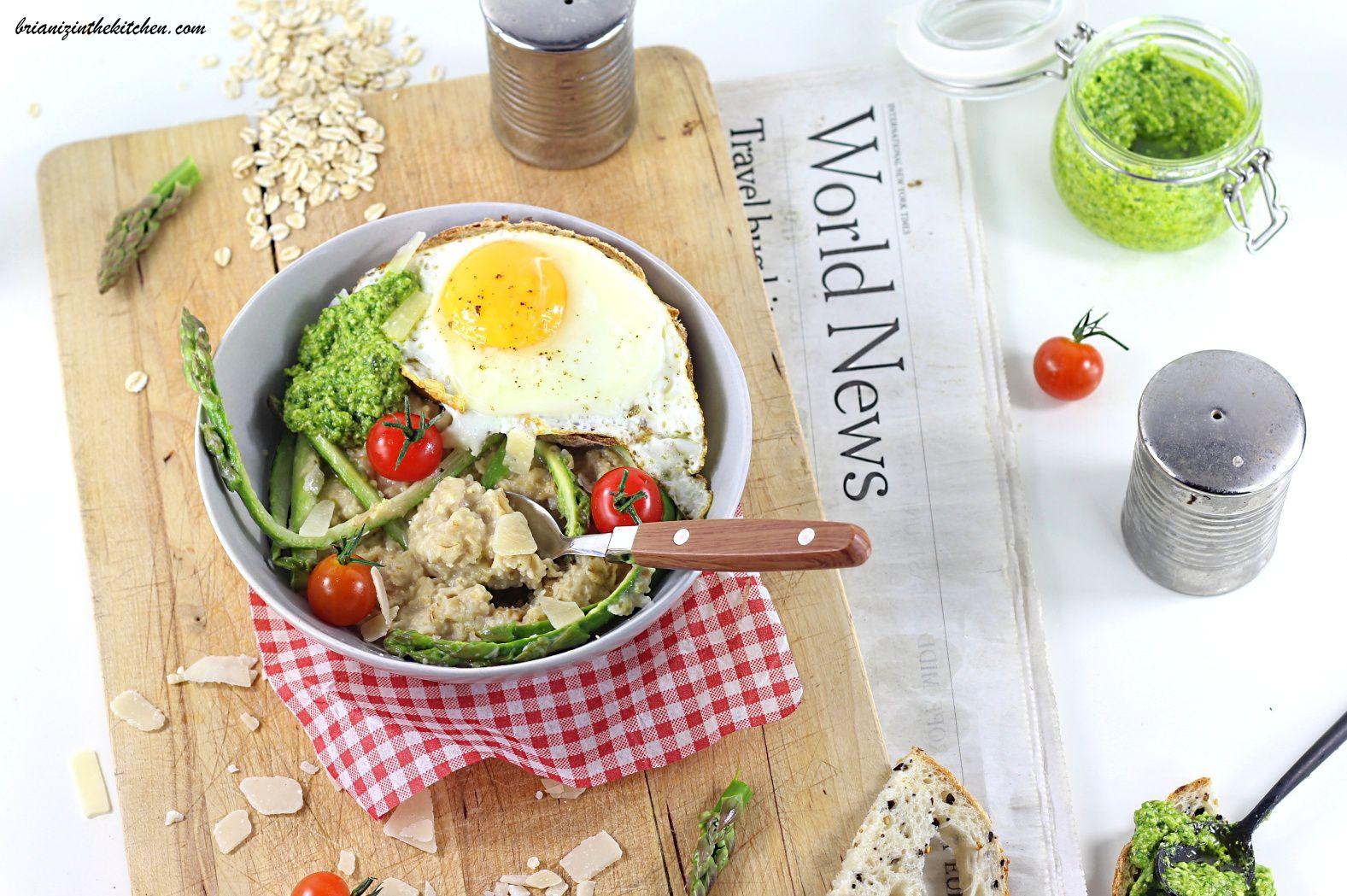 Porridge Salé Parmesan et Asperges Vertes - Brian Iz In The