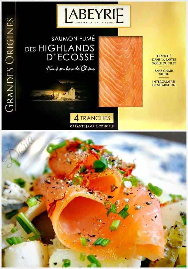 Saumon fumé des Highlands d'Ecosse en salade