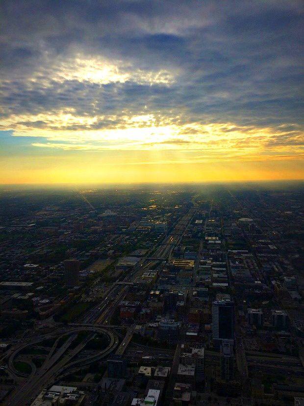 Alexie aux USA... (20) Chicago, vue d'en haut...