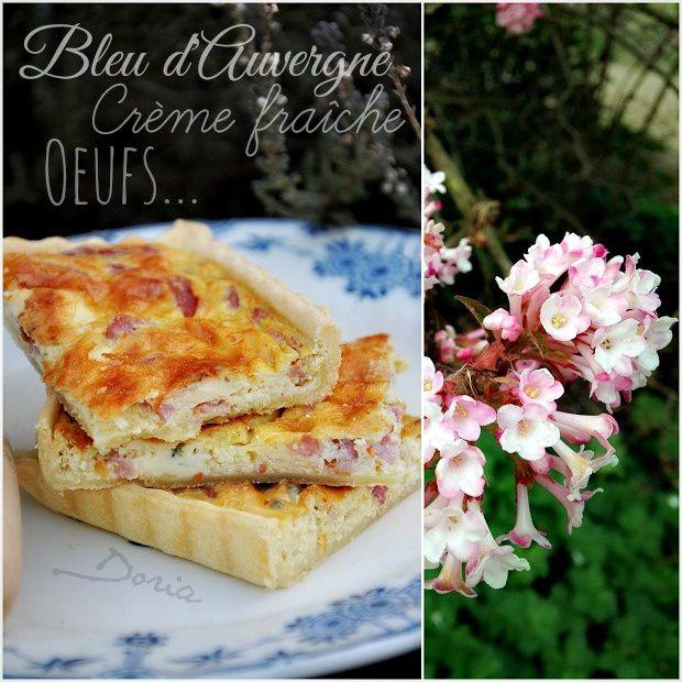 Tarte aux bleu d'Auvergne et darlons
