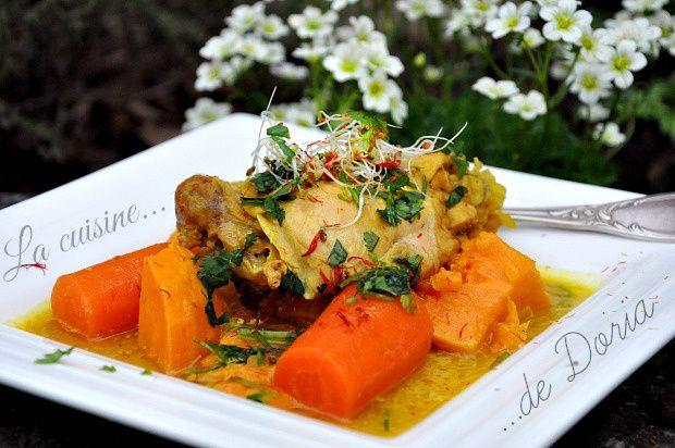 Colombo de poulet aux patates douces et carottes