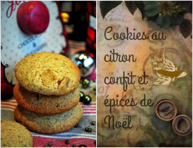 Cookies à l'écorce de citron confit et épices à pain d'épices