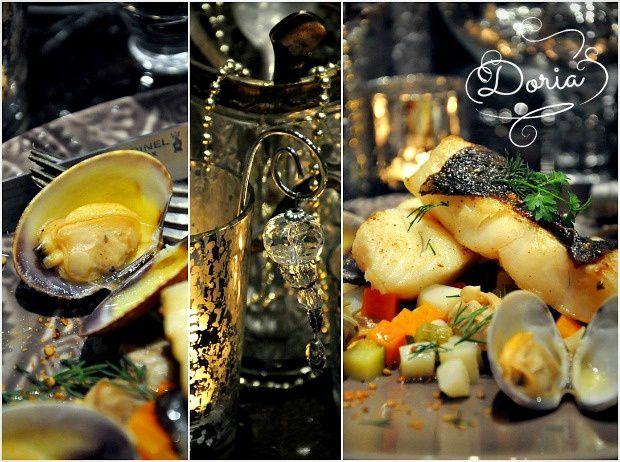 Pavés de Turbot et mirepoix de légumes croquants aux palourdes grises de Bretagne