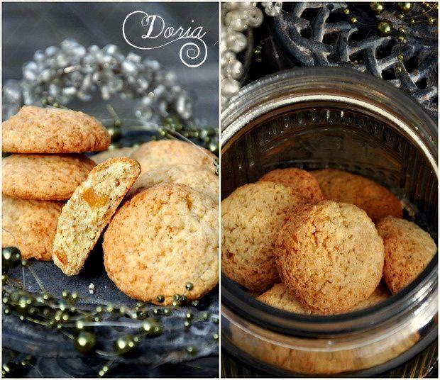 Cookies à l'écorce d'orange confite, arôme fleur d'oranger et gingembre