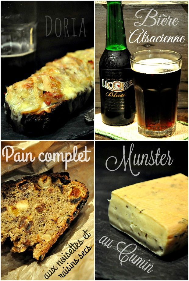Tartine de Munster au cumin, pain complet et fruits secs