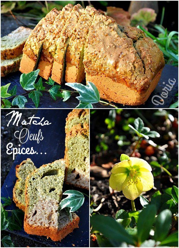 Cake au thé Matcha et épices