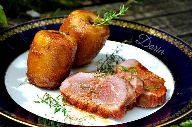 Magret de canard, pommes rôties au thym, sauce au Bovril
