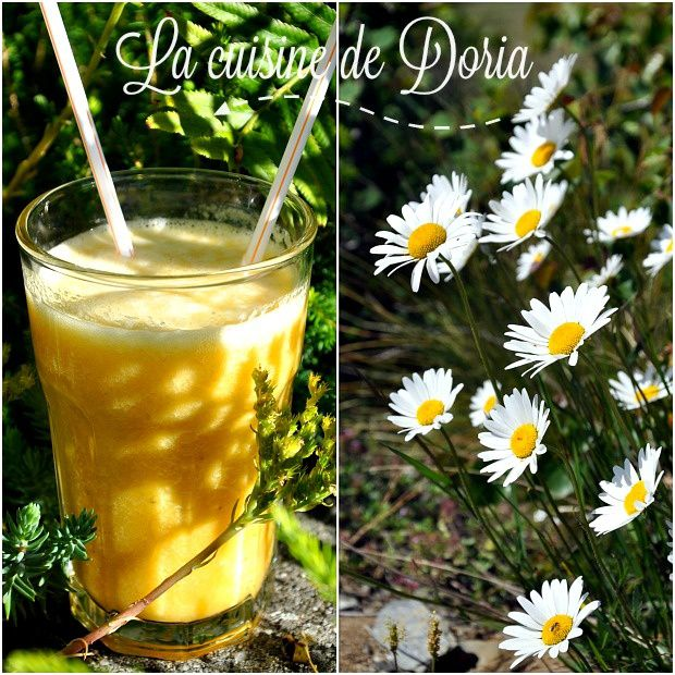 Smoothie à l'orange, pomme et banane