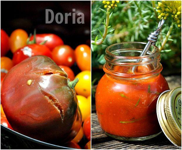 Spaetzle au coulis de tomates à l'ail frais et Speck