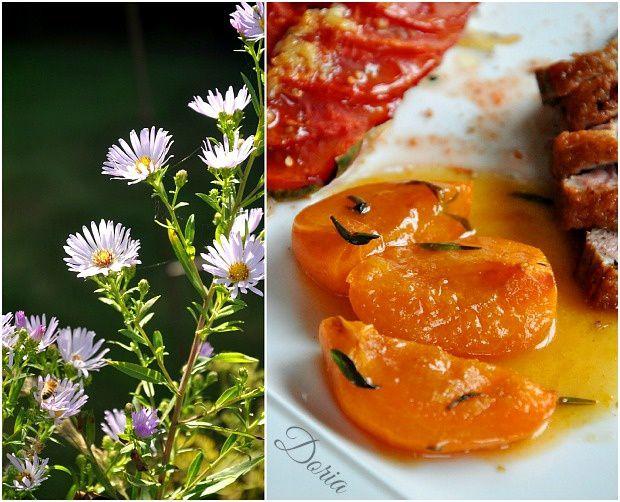 Magrets de canard aux abricots et miel de lavande, tian de légumes