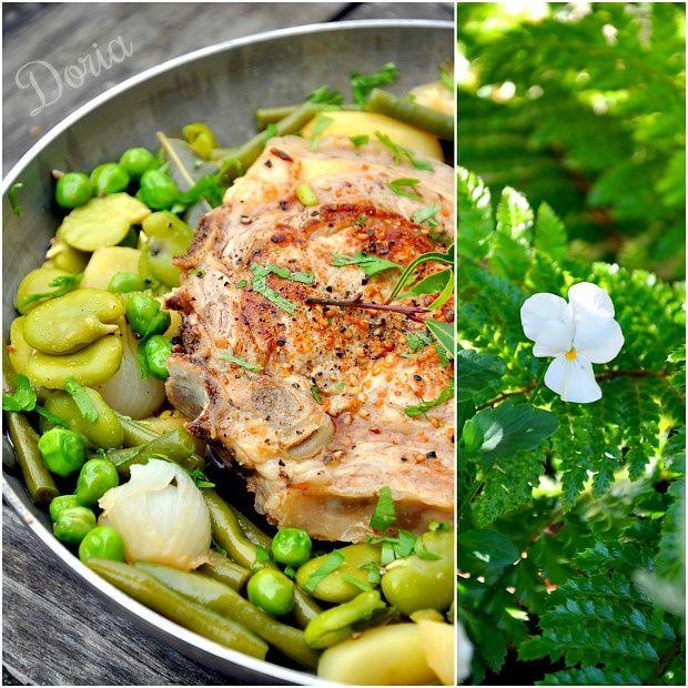 Côte de veau aux petits légumes