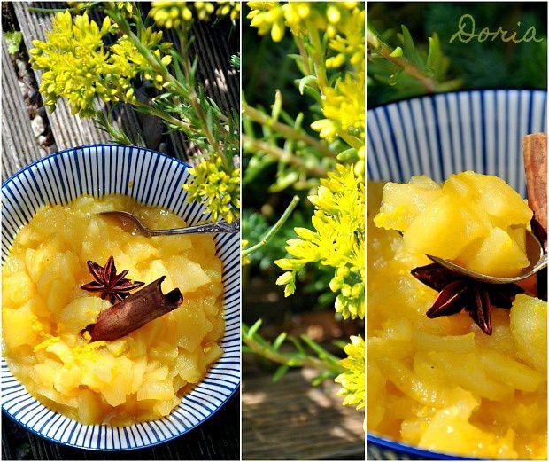 Compote de pommes à l'orange, cannelle et étoile de Badiane