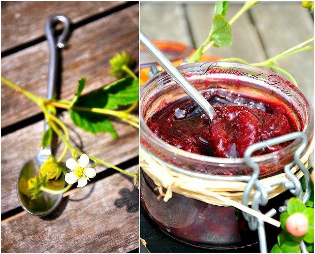 Confiture de cerises et fraises du jardin