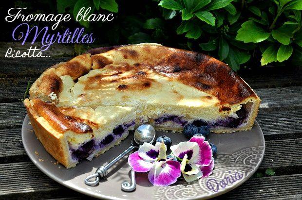 Cheesecake aux myrtilles
